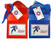 Personalised Marvel Superhero Captain America Birthday Party Lunch Gift Box/Bag
