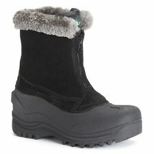 Women's ITASCA TAHOE Black Leather Insulated Waterproof Winter Snow/Rain Boots