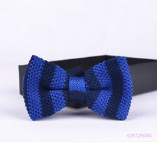 Mens Knit Knitted Bow Tie Bowtie Party Wedding Classic Adjustable Ties YJB0010