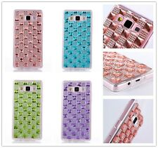 Resin Diamond Crystal TPU Soft Beauty Case Cover Skin For Samsung Galaxy Phones