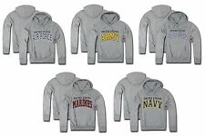 Military Fleece Hoodie Pullover Sweatshirt US Army Marine Navy Air Rapdom S46