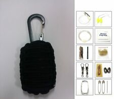 550 Paracord Reflective Strands 20 Item Survival Pod Kit Tactical Pack Military