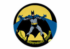 Batman Edible Cake Topper Personalised 20cm round Icing Choose your design!