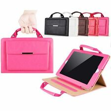 Universal Carrying Handbag PU Leather Case Cover with Stand For Apple iPad 2 3 4