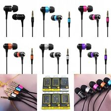 Super Bass Stereo 3.5mm In Ear Headphone Earphone Earbud for iPhone iPod MP3 PC