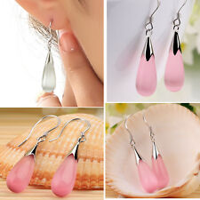 Kawaii Fashion Jewelry 925 Sterling Silver Plated Water Drop Hook Dangle Earings