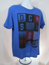 Mens new DC Shoes shirt size large 50/50 heather royal blue nwt skate surf