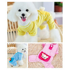 New Small Pet Dog Cat Stripes Pajamas Puppy Coat Clothes Apparel Summer Clothing