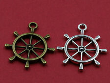 5~100pcs Retro Style Fashion Hollow Rudder Alloy Charms Pendant Jewelry Finding