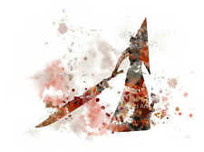 ART PRINT Pyramid Head illustration, Silent Hill, Gaming, Wall Art, Splatter