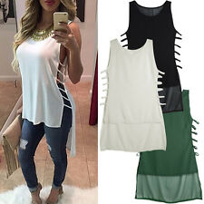 Fashion Womens Ladies Summer Vest Tops Sleeveless Blouse Casual Tank Top T-Shirt