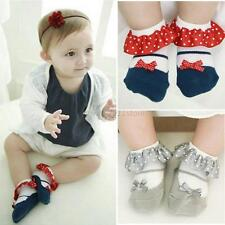 Kids Toddler Newborn Baby Girl lace Bow Princess Socks Anti-Slip Soft Ankle Sock