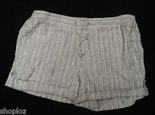 Ladies M&S Sizes 6 24 Pure Linen Grey Shorts Bnwt/Bnwot Free Postage