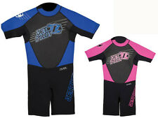 JetPilot CAUSE Kids Spring 2/2mm SS Wetsuit, Black Blue or Pink, XS-XL. 51873