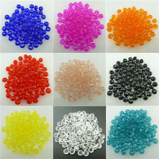 Wholesale! 100pcs Loose Clear 4mm Glass Crystal Rhinestone Bicone Spacer Beads