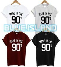 MADE IN THE 90'S T SHIRT SWAG DOPE FASHION QUOTE HIPSTER TUMBLR GIFT PRESENT NEW