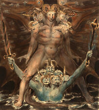 """William Blake : """"Great Red Dragon and the Beast from the Sea"""" — Fine Art Print"""