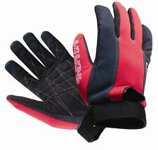 O'Brien SKI SKIN Waterski Watersports Gloves, Black/Red. 35365