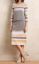 Anthropologie Striped Midi Pullover and Sweater Skirt Set - By Moth Sz M - NWT