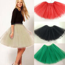 Women Girl Party Costume Ballet Princess Tutu Mini Skirt Dress Petiskirt 13Color