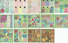 Daisy D's 12x12 Double-sided Cardstock Die-cuts - Florals/Vintage/Alphabets/Tags