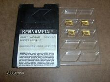 "ANGT16234R, GRADE; KC725M  ""KENNAMETAL""  MILLING CUTTER  INSERTS,  4  PIECES"