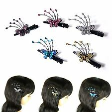 Crystal Rhinestone Butterfly Hair Jewelry Clip Clamp Pin Accessory Party Prom