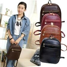 Men Women Backpack Travel PU Leather Handbag Rucksack Laptop Shoulder School Bag