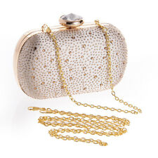 Rhinestone Womens Clutch Handbag Evening Bag Party Cocktail Prom Chain Bag Purse