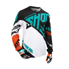 SHOT 2016 MEN'S MOTOCROSS / MTB JERSEY - CONTACT RACEWAY - orange-mint