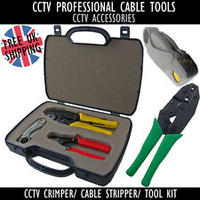 CCTV SYSTEM INSTALLER CABLE Wire BNC CRIMPING ROTARY STRIPPER Cutter TOOLS KIT