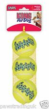 Kong Air Dog Squeaky Tennis Ball Squeakair Medium 3 Pack