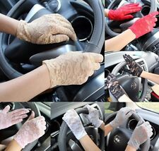 Ladies Sexy Lace Gloves UV Protect Bridal Wedding Party Costume Driving Glove