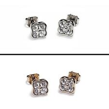 Dyrberg Kern Stud Earrings, Swarovski Elements Crystals, optional Silver or Gold
