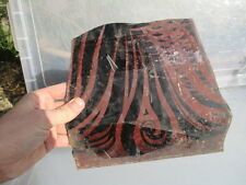 Antique Stained Glass Window Section Panel Painted 1800's Architectural Salvage