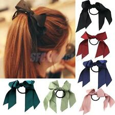 Charm Satin Ribbon Ponytail Holder Elastic Hair Band Accessories for Women Girl