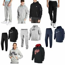NIKE Mens Womens Fleece Hoody Jumper Hooded Top Jog Suit Bottoms Pant Suit