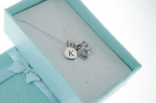 Little girl's rabbit necklace in sterling silver. Rabbit necklace. Bunny jewelry