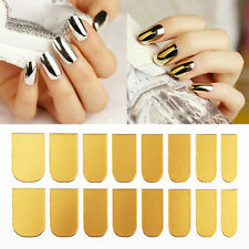 16 Pcs 3D Gold Silver Lightning Minx Style Nail Art Patch Decals Foil Stickers