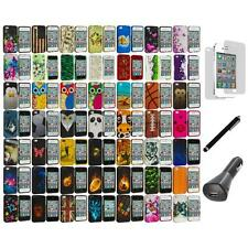 Design Hard Rubberized Snap-On Cover Case+LCD+Charger+Pen for iPhone 4 4S 4G