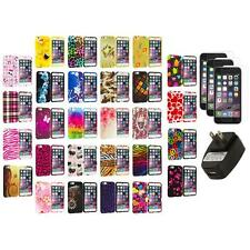 For Apple iPhone 6 (4.7) TPU Design Cover Case+Screen Protectors+Wall Charger