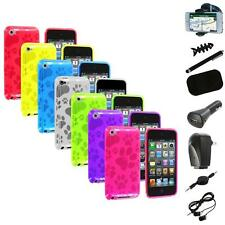 TPU Dog Paw Color Skin Case Cover+8X Accessory for Apple iPod Touch 4th Gen 4G 4