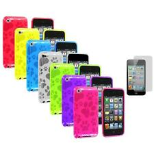TPU Dog Paw Skin Case Cover+Screen Protector for Apple iPod Touch 4th Gen 4G 4