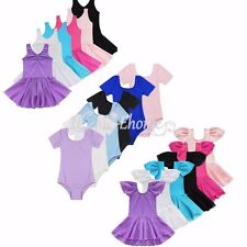 Girl Kid Gymnastics Dress Size 2-14Y Dancewear Ballet Tutu Leotard Skirt Costume