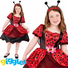 Girls Ladybird Costume Lady Bug Insect World Book Week Day Fancy Dress Outfit