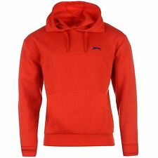 Slazenger Fleece Pullover Hoody Mens Red Jumper Sweatshirt Sweater