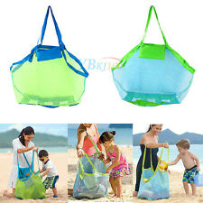 New Portable Sand Away Carry All Kids Toys Mesh Tote Large Beach Storage Bag Net