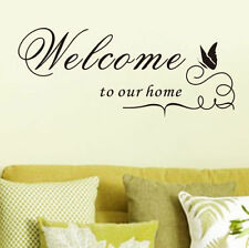 Welcome to our home wall sticker quote vinyl wall art home decoration
