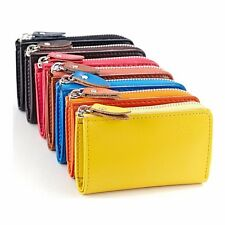 Men Women Zipper Leather Key Bag Keychain Wallet Credit Card Holder Case Purse