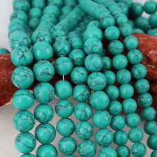 15 Inch 1String Green Turquoise Charm Round Loose Spacer Beads 4/6/8/10/12mm